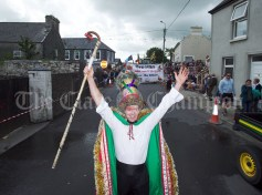 Joe Joe Marrinan and the Chapel Gate Wren Boys during the Cultural Parade as part of the annual Festival Of Fun in Kilmihil. Photograph by John Kelly