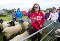 Caitlin Casey with her sheep at Kildysart Show. Photograph by John Kelly