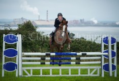 Kilrush's Michael Lillis competing in the showjumping at Kildysart Show. Photograph by John Kelly