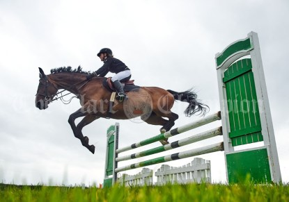 A worms eye view of the jumping at Kildysart Show. Photograph by John Kelly