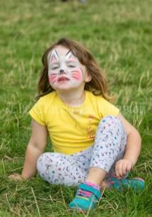 250819 3 year old Orla Cunniffe, Sixmilebridge, at Kilmurry Festival Field Day on Sunday.Pic Arthur Ellis.