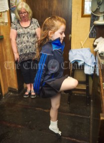 Ciara Corry steps it out during a sessiun in Buggles as part of the Kilrush Traditional Music & Set Dancing Festival. Photograph by John Kelly