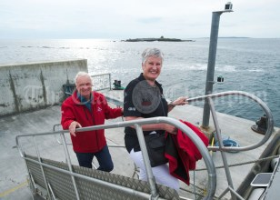 Eileen and Bill O Brien arrive for the Romantic RNLI Cruise held in association with their Doolin Ferry Company. Photograph by John Kelly