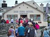 Passengers head for the local Island hotel during the Romantic RNLI Cruise held in association with Bill O Brien's Doolin Ferry Company. Photograph by John Kelly