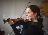 Sinead Heagney performed in the pub on Inisheer during the Romantic RNLI Cruise held in association with Bill O Brien's Doolin Ferry Company. Photograph by John Kelly