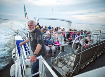 Coastguard Stalwart Tom Doherty takes a moment on the way home from the Romantic RNLI Cruise held in association with Bill O Brien's Doolin Ferry Company. Photograph by John Kelly