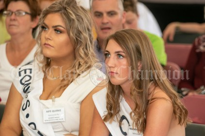 020819 Queen of the Waterways contestants Aoife Quirke and Nimah Magill at the Scariff harbour festival on Friday evening.pic Arthur Ellis.