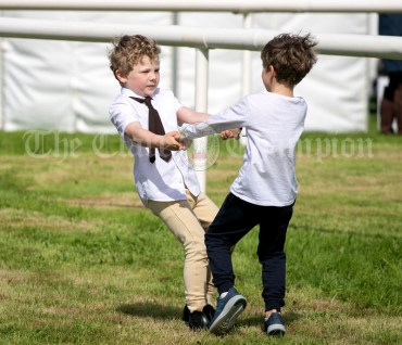 310819 Best friends Robert Kenneally and Sean Cobbe at Clarecastle Show on Saturday.Pic Arthur Ellis.
