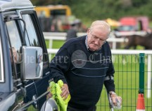 310819 Martin Moloney, Kilmaley, polishing his motor at Clarecastle Show on Saturday.Pic Arthur Ellis.