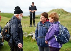 Tom Doherty with his sisters Ita and Celia before the Burren Ramble in aid of the RNLI at Fanore. Photograph by John Kelly