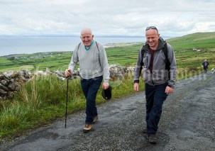 Michael and Kieran Houlihan during the Burren Ramble in aid of the RNLI at Fanore. Photograph by John Kelly