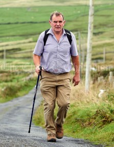 Eamonn Nihill of Ogoelloe during the Burren Ramble in aid of the RNLI at Fanore. Photograph by John Kelly