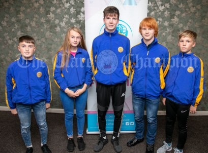 270919 Community Games All Stars L-R Cathal Morgan, Lisdoonvarna, Ria Meaney, Ballynacally, Luke Griffin, Ballynacally, Yeshua O'Brien Bayer, Moylussa and Tadhg Bane, Doora Barefield. Pic Arthur Ellis.
