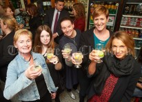 Maura Faye, Event co-ordinator, Margaret Whitworth, Ennis Chamber, Emily O Dwyer, co-ordinator, Tara Donnellan, Facebook and Artisan Market co-ordinator and Aoife Spelman, content and Instagram co-ordinator, at the launch of Ginis, a new limited edition Gin, at the official opening of the Clare Food And Drink Fleadh in Fawl's Bar, Ennis. Photograph by John Kelly