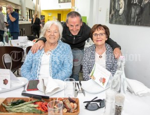 270919 L-R Dermot O'Loughlin, Mary McAllister and Mary Guerin at a Pop Up lunch in Glor on Friday .Pic Arthur Ellis.