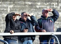 KIB fans watch the closing stages of their senior football county final replay at Cusack Park. Photograph by John Kelly.