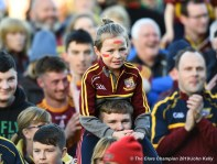 Miltown fans watch the cup presentation following their senior football county final replay win over KIB at Cusack Park. Photograph by John Kelly.