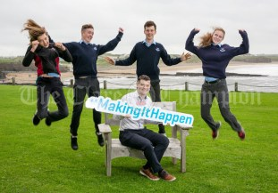 REPRO FREE 260919 Launching Local Enterprise Office Student Enterprise Programme 2019 was Declan Meaney, Local Enterprise Office Clare, with students from Mary Immaculate Lisdoonvarna during Student Enterprise Induction Day at The Armada Hotel in Spanish Point.Pic Arthur Ellis.