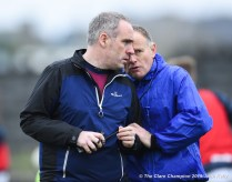 Miltown manager David O Brien with mentor John O Sullivan before their Munster Club quarter final at Miltown. Photograph by John Kelly