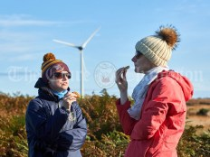 Marion Shannon and Elaine Aherne stop for a break while taking part in the Shades Of Autumn 10k walk in aid of the RNLI on bank Holiday Monday at Shragh. Photograph by John Kelly.