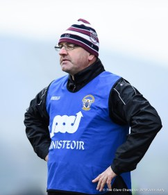 Donie Garrihy, manager of St Breckan's during their Munster Club Intermediate final against Templenoe at Mallow. Photograph by John Kelly