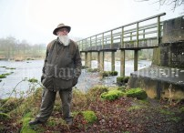 Brian Goggin, waterways historian. By the banks of the Shannon at Castleconnell. Photograph by John Kelly