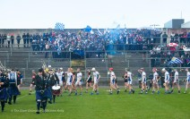 The two teams march behind the band before their Harty Cup final against CBC Cork at Mallow. Photograph by John Kelly