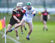 Conner Hegarty of St Flannan's in action against Daire Burke of CBC Cork during their Harty Cup final at Mallow. Photograph by John Kelly