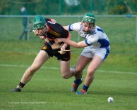 Shane Kingston of CBC Cork in action against Peter Power of St Flannan's during their Harty Cup final at Mallow. Photograph by John Kelly