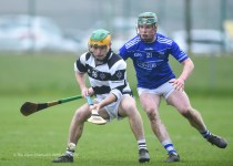 Ciaran Brennan of St. Kieran's College Kilkenny in action against Conor Halpin of St Flannan's during their Croke Cup quarter final at Mallow. Photograph by John Kelly