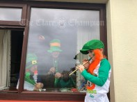 Happy St Patrick's Day to you all. It's a different one this year but making the most of it. Jack Healy in Liscannor entertaining his grandparents from outside the window.