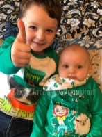 Josh and VJ Chambers celebrating his first St Patricks Day