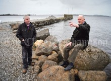 Tommy Holland, right, local resident and history enthusiast with Councillor Pat Burke at Williamstown Harbour where three IRA men and an innocent civilian, known now as The Scariff Martyrs, were arrested by the Auxiliaries on 16th November 1920. Photograph by John Kelly