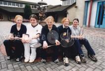 St Anne's Secondary School, Killaloe U-16 girls badminton team. Ruth Kilkenny, Niamh Burke, Anne Flynn, Laura Murphy and Sharon Fleming. Photograph by John Kelly
