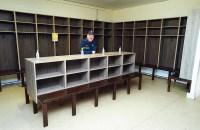 Clare GAA PRO, Michael O'Connor in one of the dressing rooms. Photograph by John Kelly