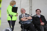 Clare Community Games veterans Michael Lillis and Tommy McCarthy enjoy a chat between events. Photography by Eugene McCafferty