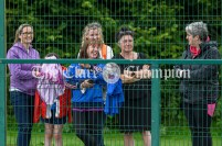 Due to Covid-19 restrictions parents were not allowed inside the event arena for this year's Clare Community Games athletics finals but had to make do with encouraging their youngsters from outside the fence. Enjoying the proceedings at Lees Road were Linda Wynne, Martina O'Mara, Marie Doyle, Claire Moroney, and Teresa Clancy from Killanena/Flagmount Community Games. Photography by Eugene McCafferty