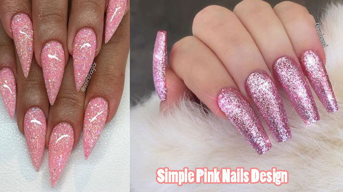 Cute Long Pink Nails