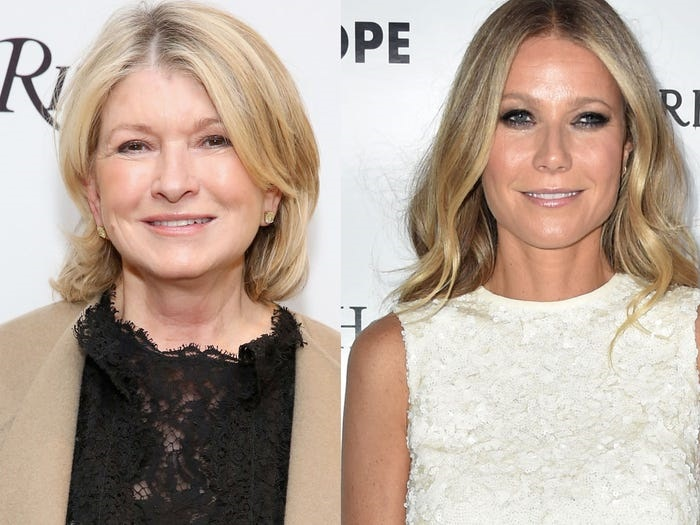 Martha Stewart made remarks about Gwenyth Paltrow and her lifestyle brand, Goop.