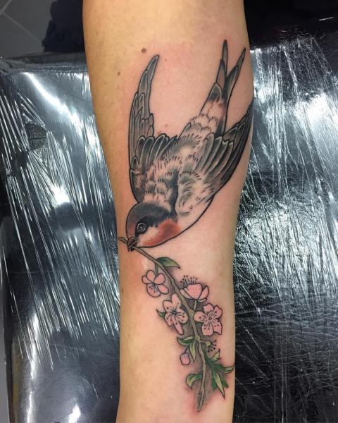 clareketontattoos_wip_cherryblossom_bird_tattoo