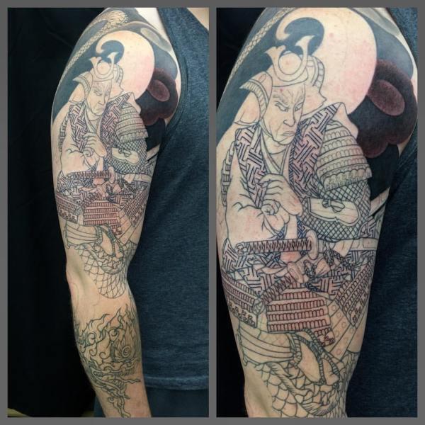 clareketontattoos_wip_samuri_sleeve_tattoo