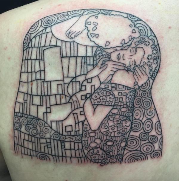 clareketon_tattoo_thekiss_klimt