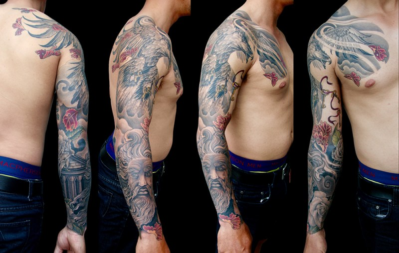 clareketontattoos_hawk_zuess_sleeve
