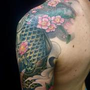 Cherry blossom oriental tattoo