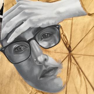 clareketontattoos_painting_selfportrait_wip