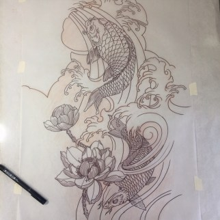 Koi full sleeve