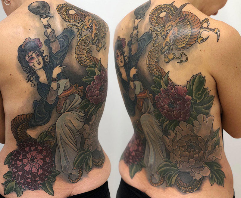 'Nuwa'- Chinese Goddess full back coverup