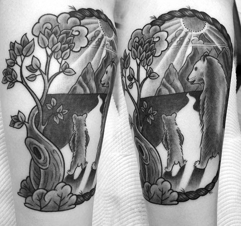 Tattoo of Bears