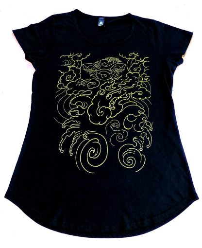 Clare's Signature piece t-shirt in gold.