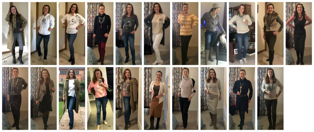 100 days 100 outfits showing days 40-60